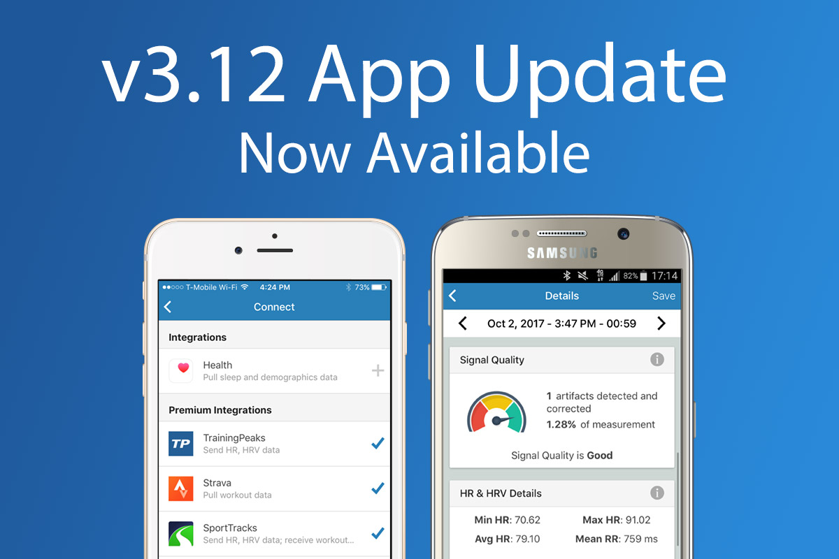 Review the latest updates to the Elite HRV App: v3 12 Update